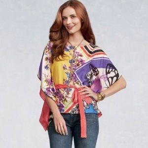 CAbi Butterfly Kimono 345 Belted Artist Top Medium